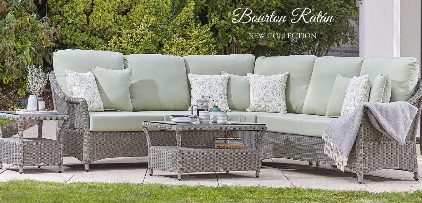 mobiliario de ratán para jardín de diseño Bourton