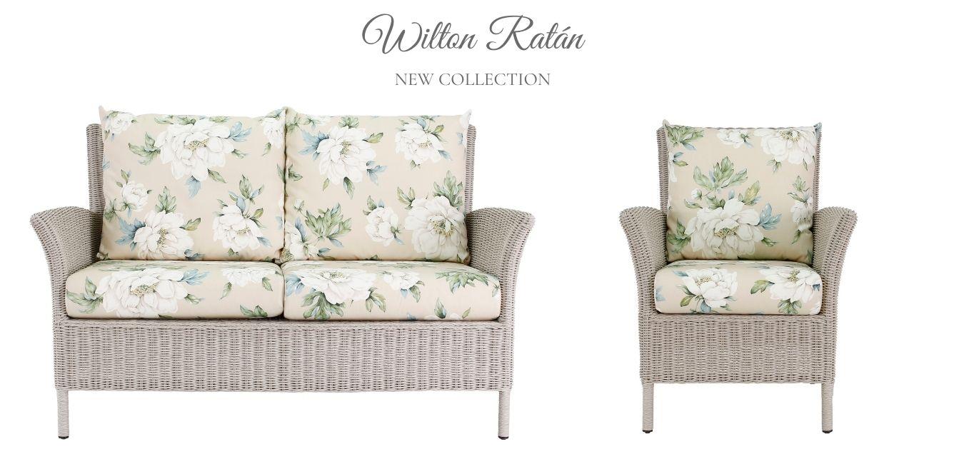 mobiliario de ratán para jardín Wilton