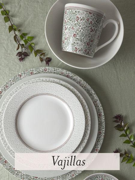 Vajillas de porcelana para decorar tu mesa con estilo